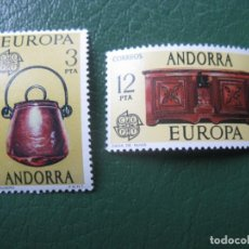 Sellos: ANDORRA, 1976, EUROPA, EDIFIL 102/3. Lote 244909470