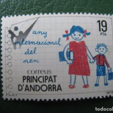 Sellos: +ANDORRA, 1979, AÑO INTERNACIONAL DEL NIÑO, EDIFIL 127. Lote 244938440