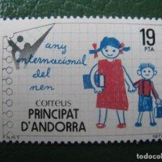 Sellos: +ANDORRA, 1979, AÑO INTERNACIONAL DEL NIÑO, EDIFIL 127. Lote 244938795