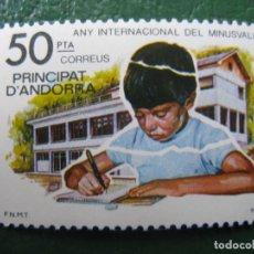 Sellos: +ANDORRA, 1981, AÑO INTERNACIONAL DEL MINUSVALIDO, EDIFIL 143. Lote 244939535