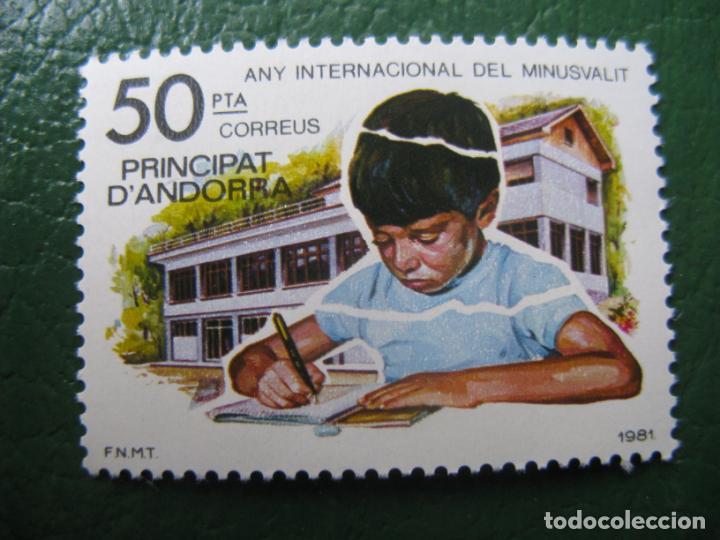 +ANDORRA, 1981, AÑO INTERNACIONAL DEL MINUSVALIDO, EDIFIL 143 (Sellos - España - Dependencias Postales - Andorra Española)