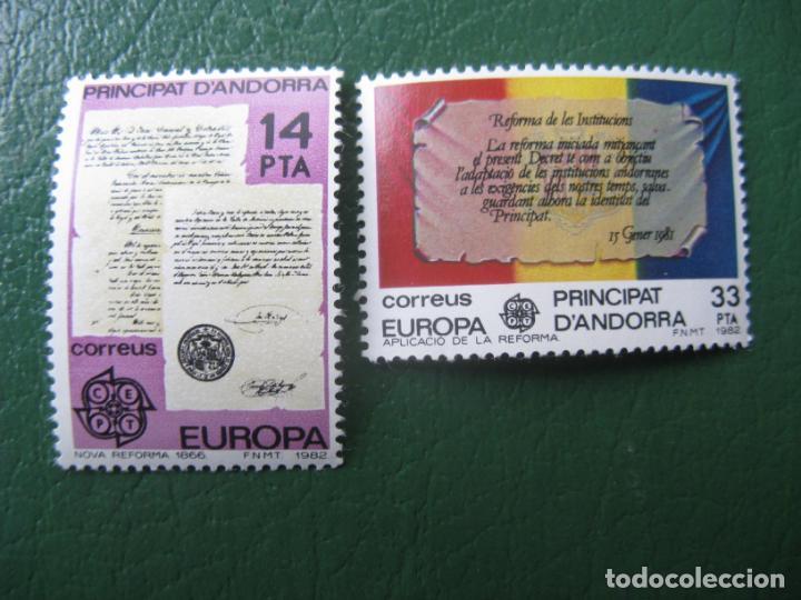 +ANDORRA, 1982, EUROPA, EDIFIL 157/58 (Sellos - España - Dependencias Postales - Andorra Española)