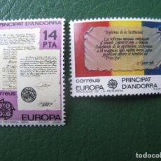Sellos: +ANDORRA, 1982, EUROPA, EDIFIL 157/58. Lote 244940150