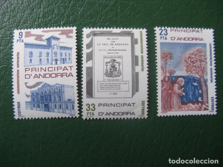 +ANDORRA, 1982, CONMEMORACIONES CENTENARIAS, EDIFIL 163/5 (Sellos - España - Dependencias Postales - Andorra Española)