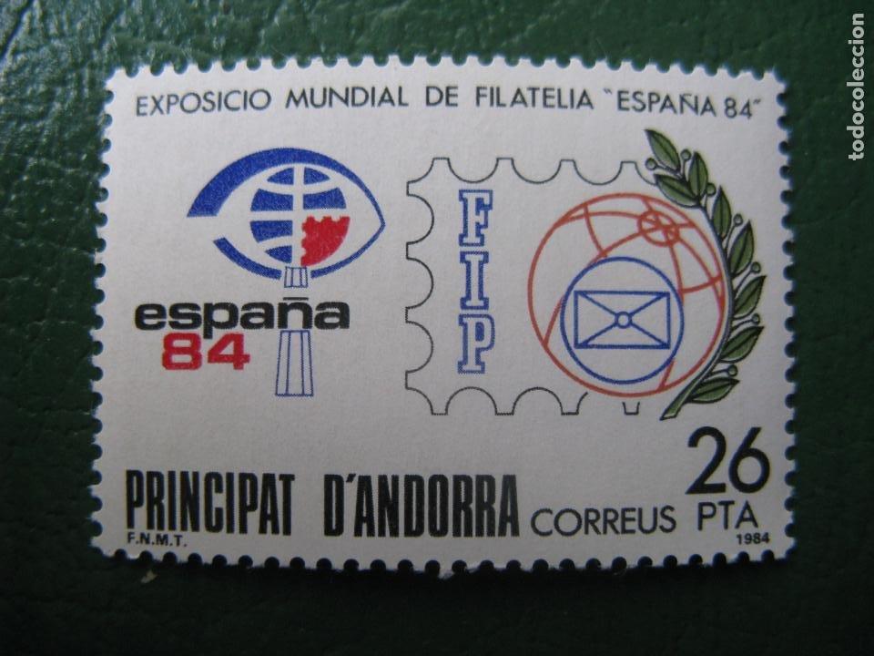 +ANDORRA, 1984, EXPOSICION MUNDIAL DE FILATELIA ESPAÑA-84, EDIFIL 178 (Sellos - España - Dependencias Postales - Andorra Española)
