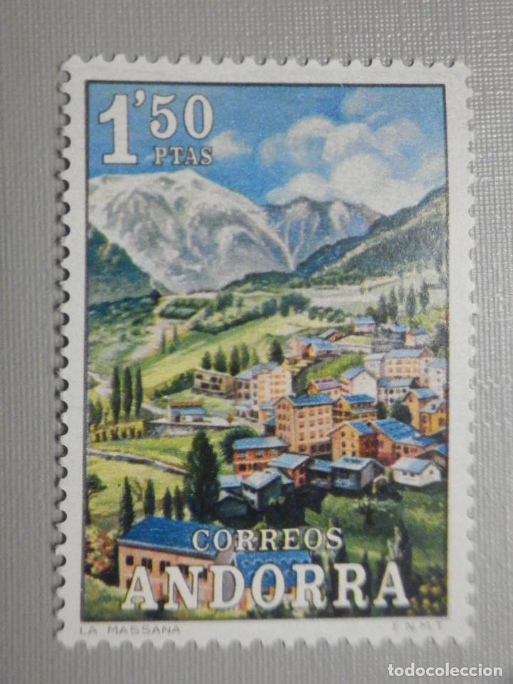 SELLO - ANDORRA CORREO ESPAÑOL - EDIFIL 74 - 1972 - 1,50 PTA - PAISAJES (Sellos - España - Dependencias Postales - Andorra Española)