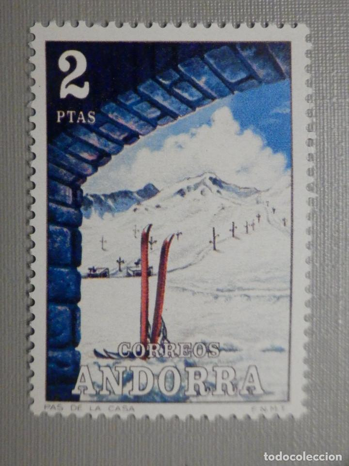 SELLO - ANDORRA CORREO ESPAÑOL - EDIFIL 75 - 1972 - 2 PTAS - PAISAJES (Sellos - España - Dependencias Postales - Andorra Española)
