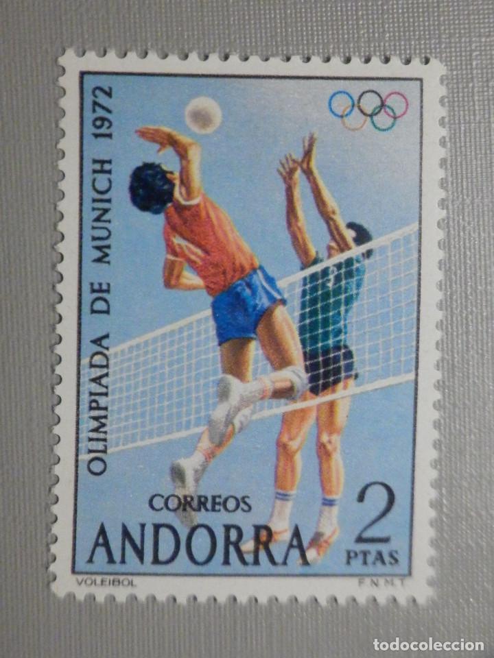 SELLO - ANDORRA CORREO ESPAÑOL - EDIFIL 77 - 1972 - 2 PTAS - JUEGOS OLÍMPICOS (Sellos - España - Dependencias Postales - Andorra Española)