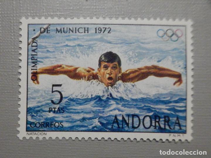 SELLO - ANDORRA CORREO ESPAÑOL - EDIFIL 78 - 1972 - 5 PTAS - JUEGOS OLÍMPICOS (Sellos - España - Dependencias Postales - Andorra Española)