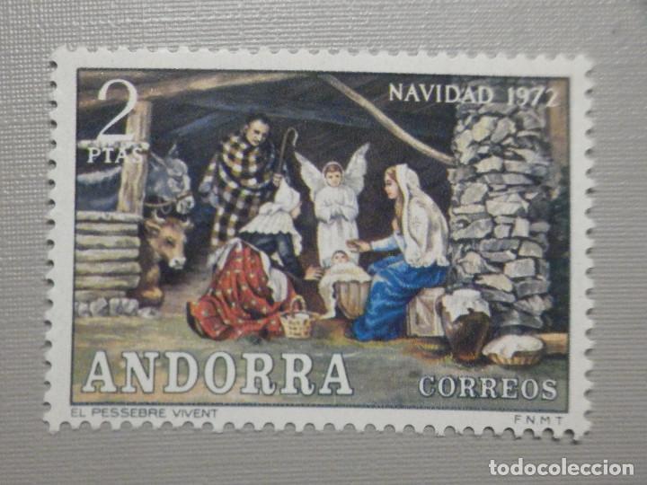 SELLO - ANDORRA CORREO ESPAÑOL - EDIFIL 79 - 1972 - 5 PTAS - NAVIDAD (Sellos - España - Dependencias Postales - Andorra Española)