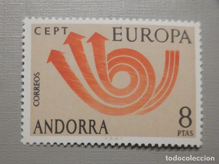 SELLO - ANDORRA CORREO ESPAÑOL - EDIFIL 86 - 1973 - 8 PTAS - EUROPA (Sellos - España - Dependencias Postales - Andorra Española)