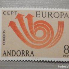 Sellos: SELLO - ANDORRA CORREO ESPAÑOL - EDIFIL 86 - 1973 - 8 PTAS - EUROPA. Lote 244954505
