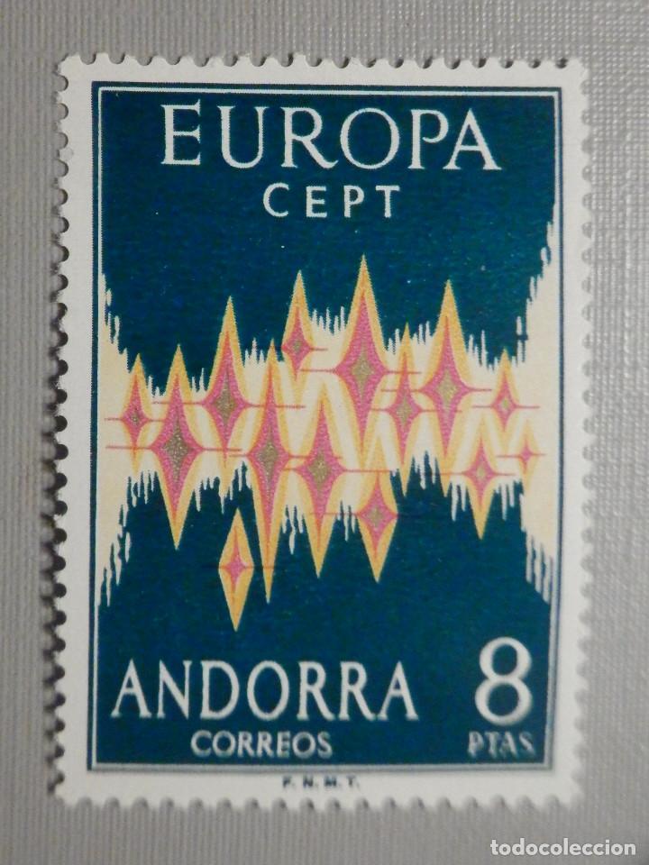 SELLO - ANDORRA CORREO ESPAÑOL - EDIFIL 72 - 1972 - 8 PTAS - EUROPA - CEPT (Sellos - España - Dependencias Postales - Andorra Española)