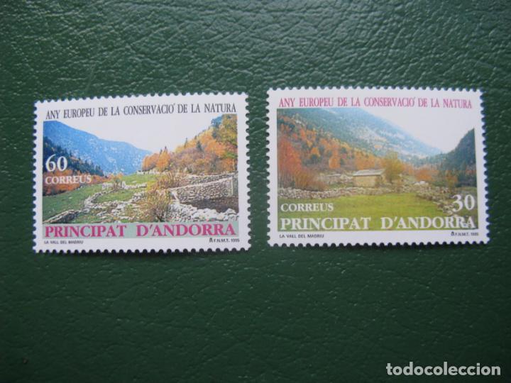 +ANDORRA,1995,AÑO EUROPEO DE LA CONSERVACION DE LA NATURALEZA, EDIFIL 246/7 (Sellos - España - Dependencias Postales - Andorra Española)