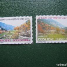 Sellos: +ANDORRA,1995,AÑO EUROPEO DE LA CONSERVACION DE LA NATURALEZA, EDIFIL 246/7. Lote 245001530