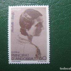 Sellos: +ANDORRA, 1996,EUROPA, ISABELLE SANDY, EDIFIL 253. Lote 245002590