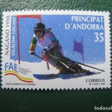 Sellos: +ANDORRA, 1998, JUEGOS OLIMPICOS DE INVIERNO NAGANO, EDIFIL 261. Lote 245003890