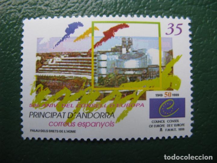 +ANDORRA, 1999, 50 ANIVERSARIO DEL CONSEJO DE EUROPA, EDIFIL 271 (Sellos - España - Dependencias Postales - Andorra Española)