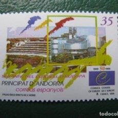 Sellos: +ANDORRA, 1999, 50 ANIVERSARIO DEL CONSEJO DE EUROPA, EDIFIL 271. Lote 245017670