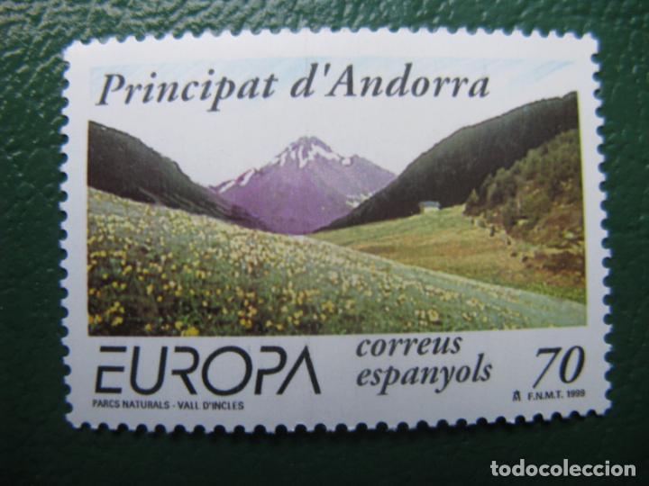 +ANDORRA, 1999, EUROPA, RESERVAS Y PARQUES NATURALES, EDIFIL 272 (Sellos - España - Dependencias Postales - Andorra Española)