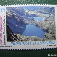 Sellos: +ANDORRA, 2000, PATRIMONIO NATURAL DE ANDORRA, EDIFIL 277. Lote 245018375