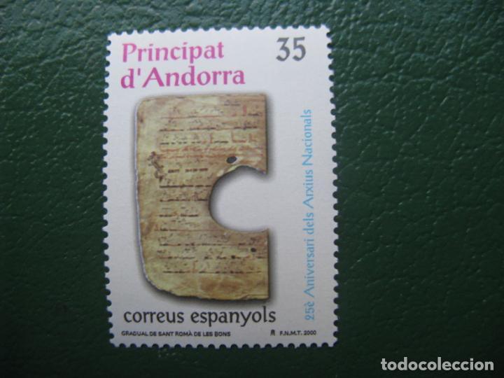 +ANDORRA, 2000, 25 ANIV. DE LOS ARCHIVOS NACIONALES, EDIFIL 282 (Sellos - España - Dependencias Postales - Andorra Española)