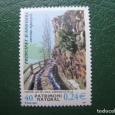 Sellos: +ANDORRA, 2001, PATRIMONIO NATURAL, EDIFIL 284. Lote 245019450