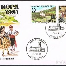 Sellos: [C0153] ANDORRA 1981; FDC SERIE EUROPA (NS). Lote 247779465