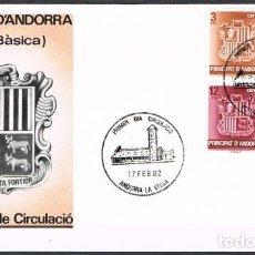 Sellos: [C0158] ANDORRA 1982; FDC SERIE BÁSICA I (NS). Lote 247817460