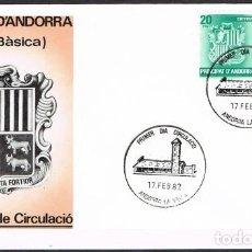 Sellos: [C0159] ANDORRA 1982; FDC SERIE BÁSICA II (NS). Lote 248113305