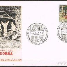 Sellos: [C0162] ANDORRA 1972; FDC NAVIDAD (NS). Lote 248512180