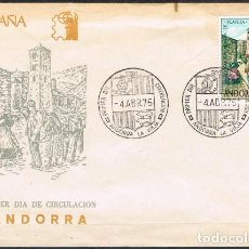 Sellos: [B0081] ANDORRA 1975; FDC EXPOSICIÓN FILATÉLICA (NS). Lote 248646645