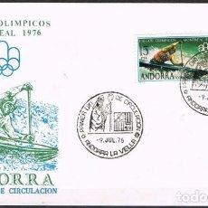 Sellos: [C0165] ANDORRA 1976; FDC JUEGOS OLÍMPICOS MONTREAL '76 (NS). Lote 248647195