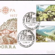 Sellos: [C0167] ANDORRA 1976; FDC SERIE EUROPA: PAISAJES (NS). Lote 248649330