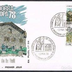Sellos: [C0169] ANDORRA 1978; FDC SERIE EUROPA (NS). Lote 248757525