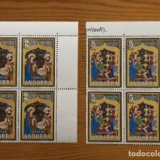 Sellos: ANDORRA, 1973, NAVIDAD, BLOQUE DE 4, EDIFIL 87 Y 88, NUEVOS **. Lote 248991680