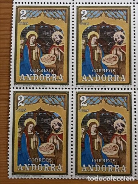 Sellos: Andorra, 1973, Navidad, Bloque de 4, Edifil 87 y 88, Nuevos ** - Foto 4 - 248991680
