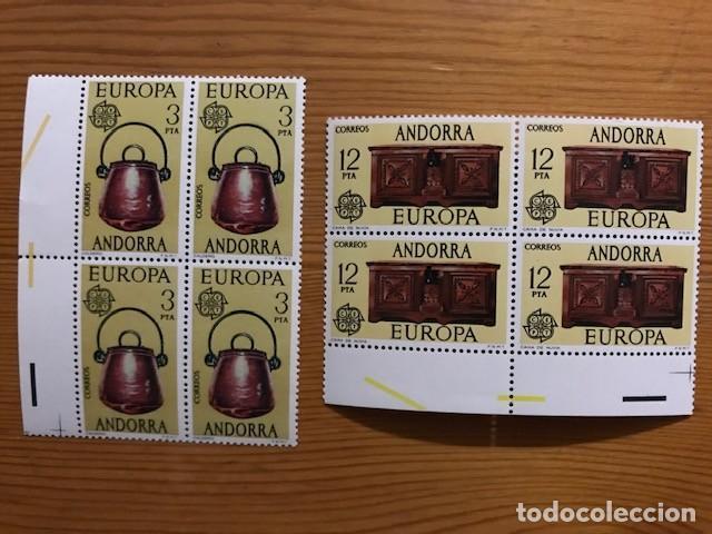 ANDORRA, 1976, EUROPA, BLOQUE DE 4, EDIFIL 102 Y 103, NUEVOS ** (Sellos - España - Dependencias Postales - Andorra Española)