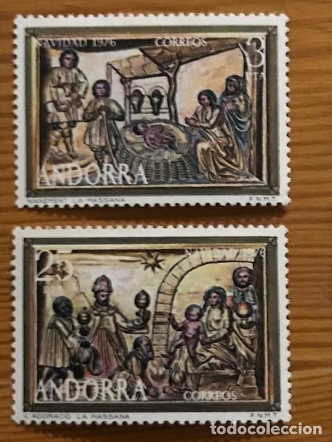 ANDORRA, 1976, NAVIDAD, EDIFIL 106 Y 107, NUEVOS ** (Sellos - España - Dependencias Postales - Andorra Española)