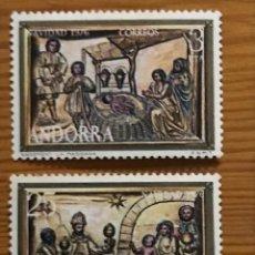 Sellos: ANDORRA, 1976, NAVIDAD, EDIFIL 106 Y 107, NUEVOS **. Lote 249054240