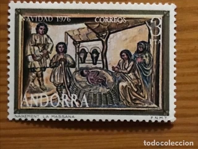 Sellos: Andorra, 1976, Navidad, Edifil 106 y 107, Nuevos ** - Foto 2 - 249054240