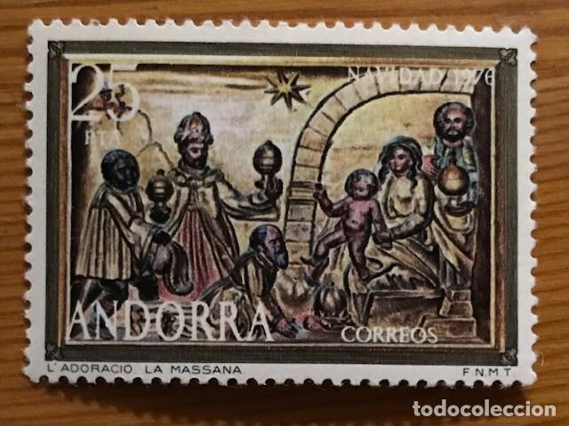 Sellos: Andorra, 1976, Navidad, Edifil 106 y 107, Nuevos ** - Foto 3 - 249054240