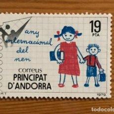 Sellos: ANDORRA, 1979, AÑO DEL NIÑO, EDIFIL 127, NUEVOS **. Lote 249055245