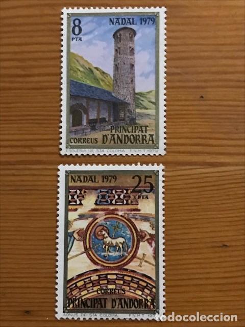 ANDORRA, 1979, NAVIDAD, EDIFIL 128 Y 129, NUEVOS ** (Sellos - España - Dependencias Postales - Andorra Española)