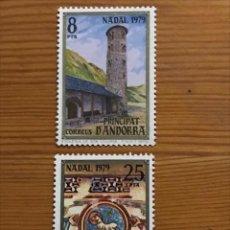 Sellos: ANDORRA, 1979, NAVIDAD, EDIFIL 128 Y 129, NUEVOS **. Lote 249056215