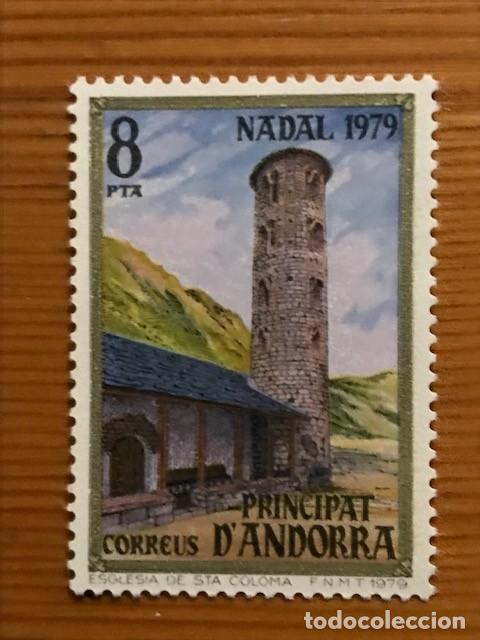 Sellos: Andorra, 1979, Navidad, Edifil 128 y 129, Nuevos ** - Foto 2 - 249056215