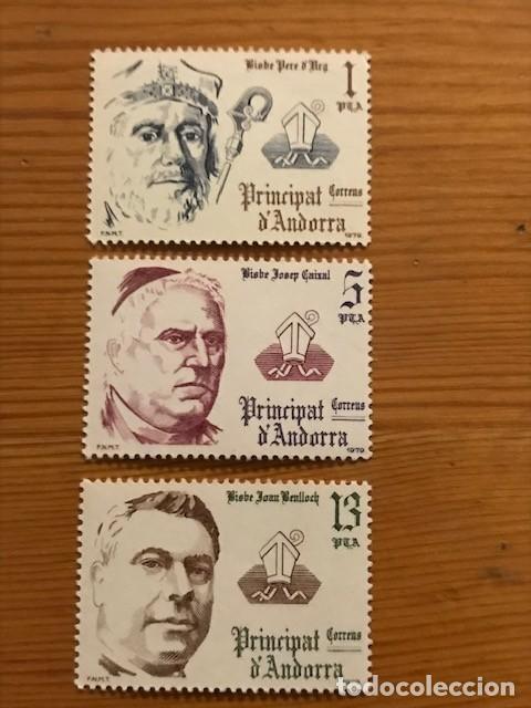 ANDORRA, 1979, COPRINCIPES EPISCOPALES, EDIFIL 130 AL 132, NUEVOS ** (Sellos - España - Dependencias Postales - Andorra Española)