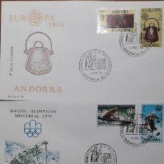 Selos: SELLOS ESPAÑA SOBRES PRIMER DIA ANDORRA AÑO 1976 COMPLETO. Lote 251155830