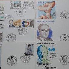 Sellos: SELLOS ESPAÑA SOBRES PRIMER DIA ANDORRA AÑO 1983 COMPLETO. Lote 251156540