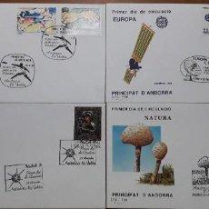 Sellos: SELLOS ESPAÑA SOBRES PRIMER DIA ANDORRA AÑO 1991 COMPLETO. Lote 251157155
